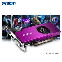 Yeston-tarjeta gráfica Radeon RX 560 GPU, 4GB, GDDR5, 128bit, para juegos de ordenador de escritorio, vídeo de PC, compatible con DVI/HDMI/VGA