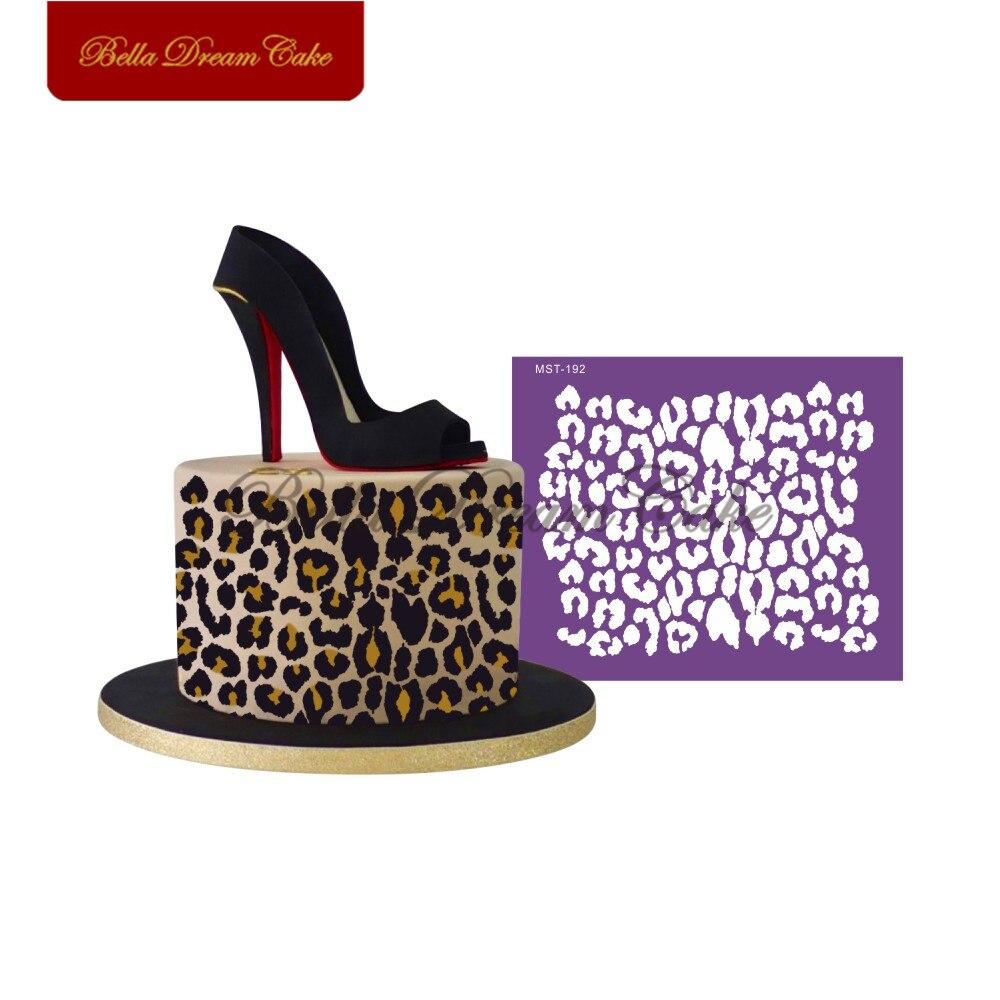 Леопардовый кружевной дизайн трафарет для торта тканевые сетчатые