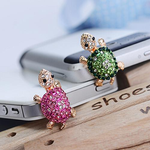 accesorios para celular Lovely Turtle Anti Dust Plug Earphone 3.5mm Ear Jack for iPhone Samsung Galaxy Phone Accessories