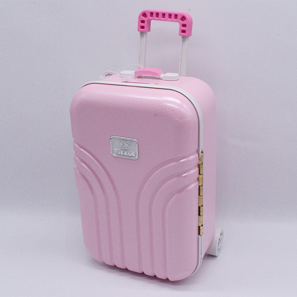BJD Doll Travel Box  1/4 1/3 Fashion Suitcase For American Doll Travel Box Salon Doll Pull Box Dress Up Toys For Girl
