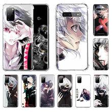 Anime Tokyo Ghoul Suave caso de teléfono para Samsung Galaxy S20 FE S10 S9 S8 Nota 10 Lite Plus 9 S10e 20 Ultra 5G Airbag cubierta Suave