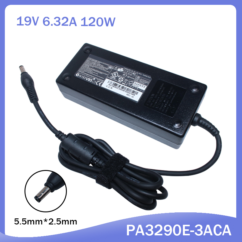 19V 6.3A 120W Laptop AC Power Adapter Charger For Toshiba PA3717E-1AC3 PA3290E-3ACA PA3290U-3AC3 PA3717U-1ACA PA5083A-1AC3