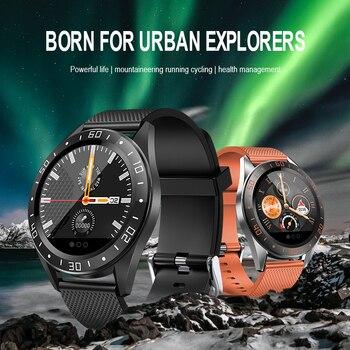 אופנה ספורט גברים שעונים חכמים Bluetooth פדומטר כושר קצב לב שעוני יד עמיד למים Smartwatch 2019 עבור אפל IOS אנדרואיד
