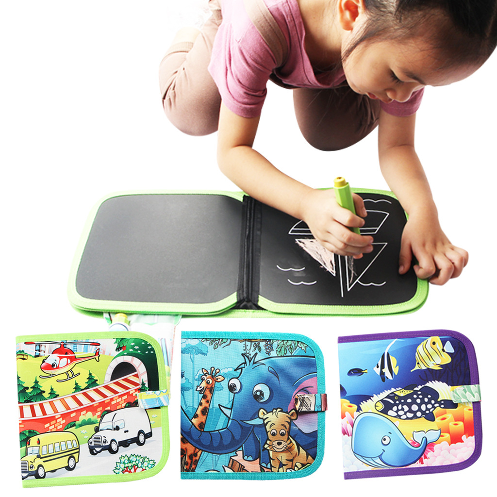 Children'S Educational Early Childhood Small Drawing Board Recyclable Portable Sketchpad Color Dust-Free Chalk Cloth Book