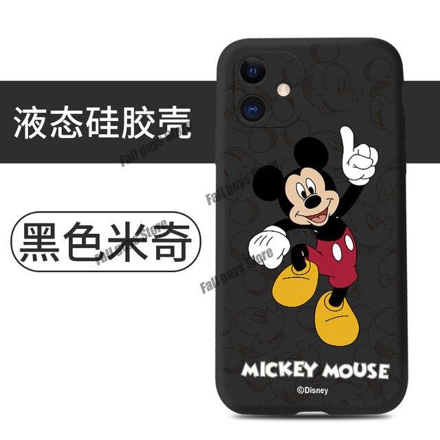 Custodia per telefono Disney topolino per iphone 6 6s Plus X Xr Xs Max 11 Pro Max 12 Pro Max Mini cartoni animati cover per telefono custodie in ...