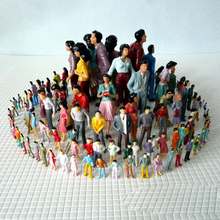 120pcsDifferent Poses Model Trains  Model color character process small colored people simulation color dog mini sand table mode dog people