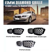 New diamond style grill For BMW 5 series F10 Racing Grills Front Kidney Grille Three styles