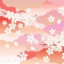 Скатерть в японском стиле с розовым вишневым дизайном обеденный