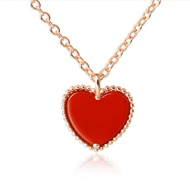 2020 Red Heart Pendant Necklace 1