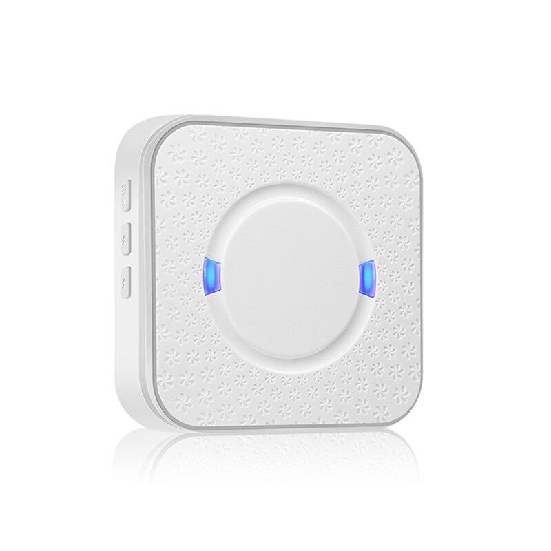 Indoor Wireless Doorbell Receiver Chime Tones Smart LED Doorbell Receiver