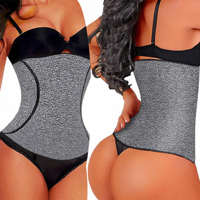 LAZAWG Hot Sweat Belt Wiast Cincher Strap Waist Trainer Thermo Neoperne Seamless Workout Girdle  Tummy Control Underwear Shaper 3