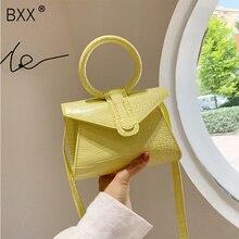 [BXX] Crocodile Pattern PU Leather Crossbody Bags For Women