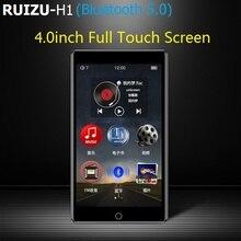 2020 RUIZU H1 w pełni dotykowy ekran 4.0 cala odtwarzacz MP3 Bluetooth 8GB odtwarzacz muzyczny obsługa radia FM nagrywanie wideo E book z wbudowanym