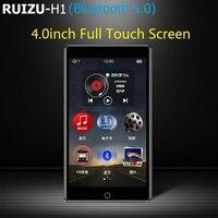 2021 RUIZU H1 Full Touch Screen lettore MP3 da 4.0 pollici Bluetooth 8GB lettore musicale supporto Radio FM registrazione Video E-book con costruito