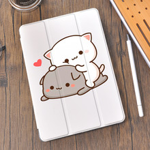 Lover Cat for Air 4 iPad Case Cute Pencil Holder 10.2 8th 2020 7th 12.9 Pro 11 2018 Mini 5 Cover Silicone For 10.5 Air 1 2 3