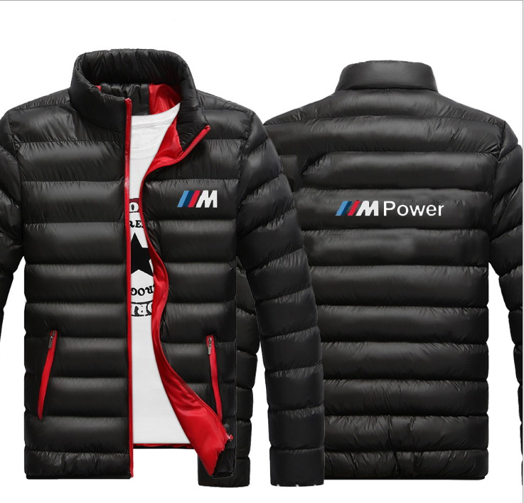 2020 Men's Winter Motocross Quilted Jacket For BMW Fashion Windproof Warm Cotton Coat Outerwear Cotton-padded Casual Sport Coat