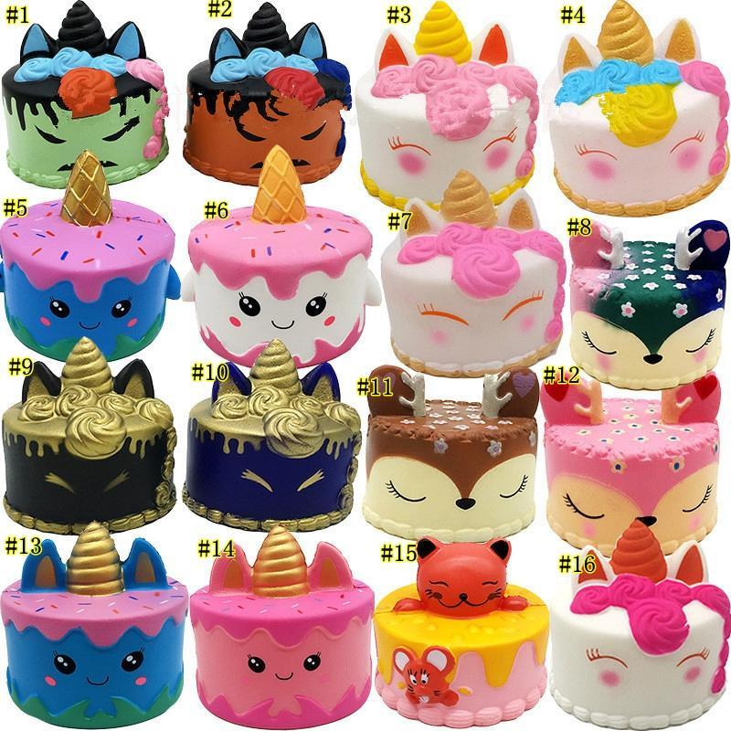 Kawaii Cartoon Cake Squishy Food Slow Rising Soft Squeeze Toys For Children Creative Cream Scented Relieve Stress Funny Gift Toy