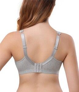 Image 3 - Dotvol כותנה חזייה נוחות Bralette מלא כיסוי הלבשה תחתונה Wirefree בתוספת גודל חזייה Soutien Feminino BH לא קצף C D E F כוס