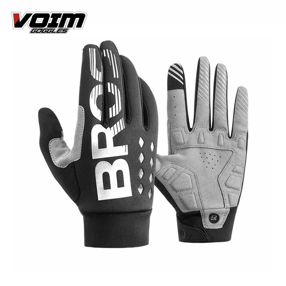 Radfahren Handschuhe Fahrrad Motorrad Handschuhe Volle Finger Winter Warme Off Road Touchscreen Guantes MX Handschuhe Motocross Luvas image
