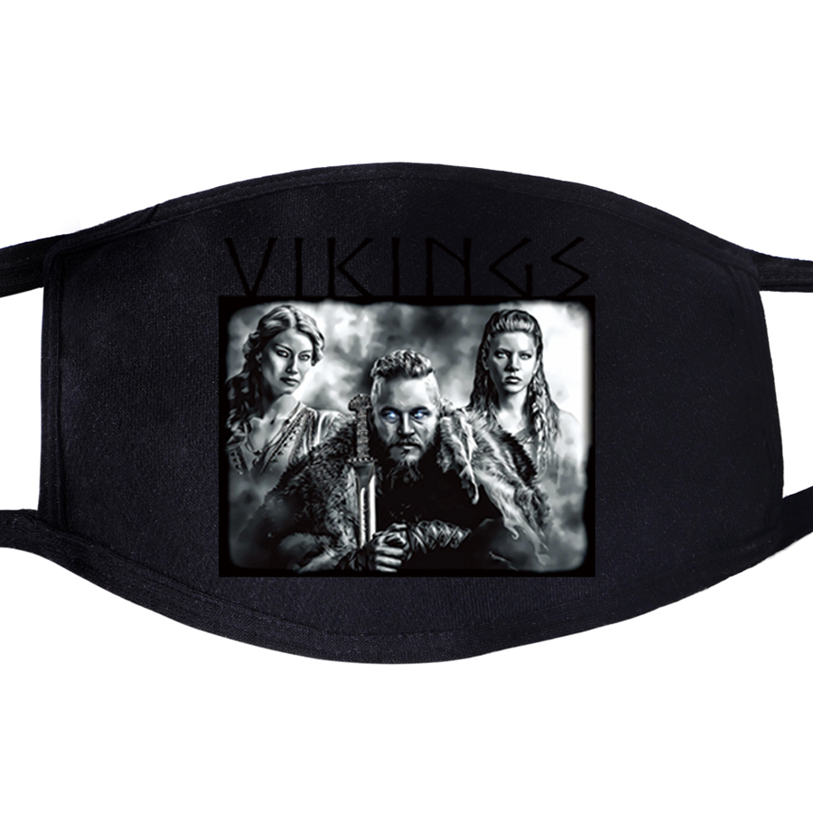 Pattern Face Mask Mouth Odin Vikings Son Of Odin Athelstan Valhalla TV Show 1pcs Dustproof Unisex Anti Dust Health Cycling Masks