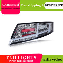 Car Styling LED Tail lights For Audi TT 2006 2013 Taillight LED Running light + Dynamic Turn Signal + Reverse + Brake A Set