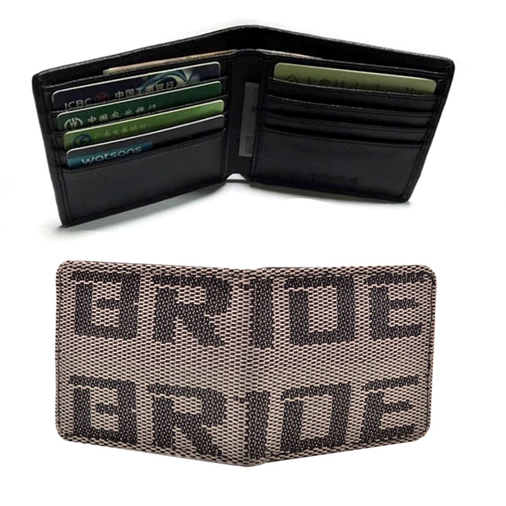 Key Bride Racing Women/'s Ladies Wallet Clutch Trifold Fabric Leather Black