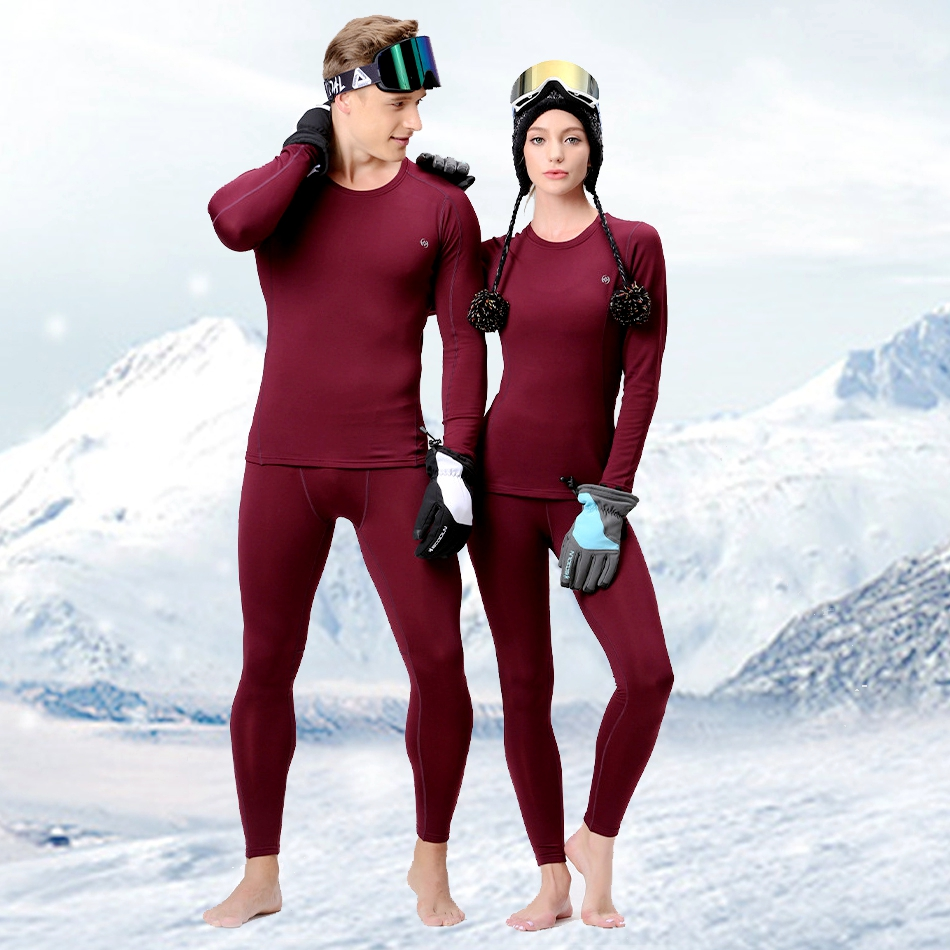 Men Women Skiing Underwear Set Winter Sports Quick Dry Thermal Underwear Ski Clothing Sportswear