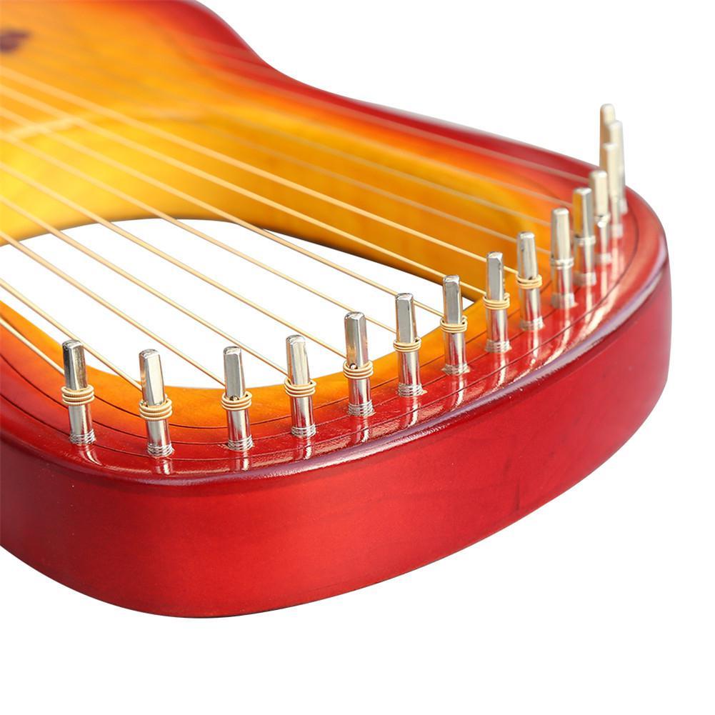 Hohe qualität GK 15MC 15 String Holz Leier mit Wasserdichte Tragen Tasche String Instrument Set - 5