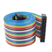 2.54mm Pitch 26 Pin 26 Way F/F Rainbow IDC Flat Ribbon Cable Connector 118cm Connectors    -