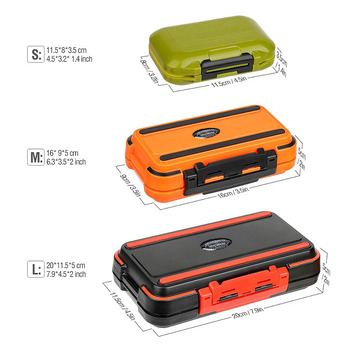 Fishing Box for Baits Waterproof Plastic Lure Boxes Fly Tackle Storage Supplies Accessories High Strength