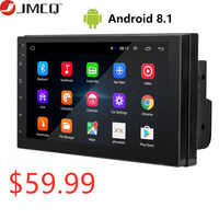 Android 8.1 2 Din 7 zoll HD Touchscreen Auto radio Multimedia Video Player 4 Core Universal auto Stereo GPS KARTE spiegel Link