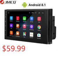 Android 8.1 Din 7 2 polegada HD Touch Screen Car radio Multimedia Video Player 4 Núcleo Universal GPS auto Estéreo MAPA de Ligação Espelho