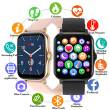 P8 plus 1.69inch Full Touch Smart Watch For Xiaomi Phone gts 2 mini Smartwatch Men Women Fitness Tracker Blood Pressure Watches
