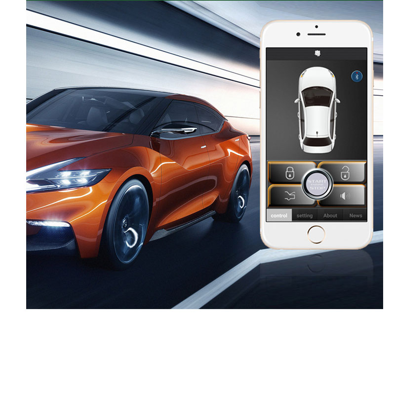 Keyless Entry System Car Alarm Automatic Trunk Opening Central Locking Kit Mobile Download App Automatically Open Car Parts