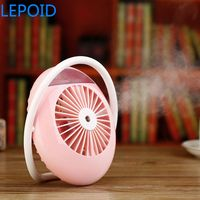 LEPOID Battery Fan with Air Humidifier USB Aroma Essential Oil Diffuser Portable Table Fans