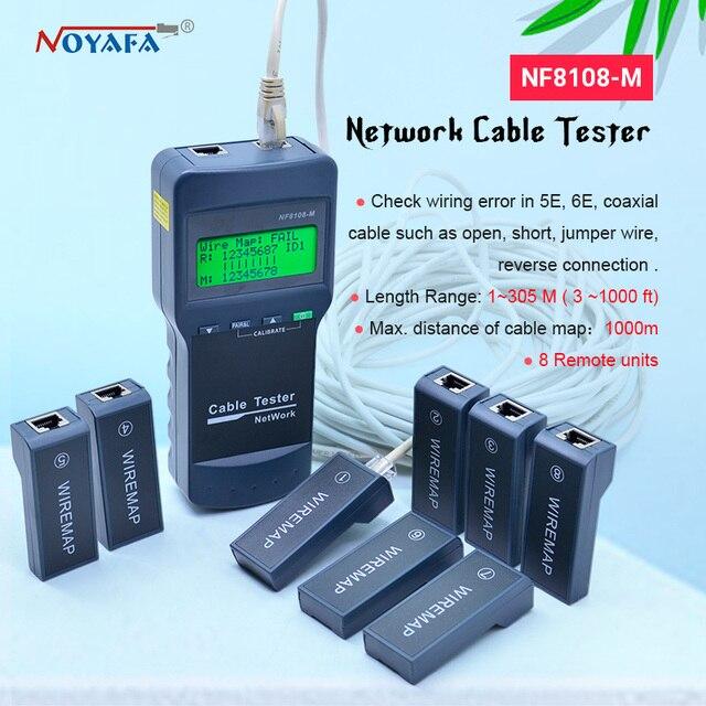 גבוהה באיכות NOYAFA NF 8108M רשת כבל Lan Tester חוט אורך tester 8 מרחוק יחידות NF_8108M