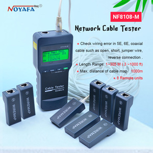 Image 1 - Wysokiej jakości NOYAFA NF 8108M kabel sieciowy Lan Tester długość drutu tester 8 zdalnego jednostki NF_8108M