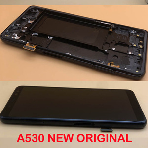 Image 1 - מקורי סופר AMOLED 5.6 תצוגה עבור SAMSUNG Galaxy A8 2018 LCD A530 A530F A530DS A530N LCD מסך מגע Digitizer הרכבה