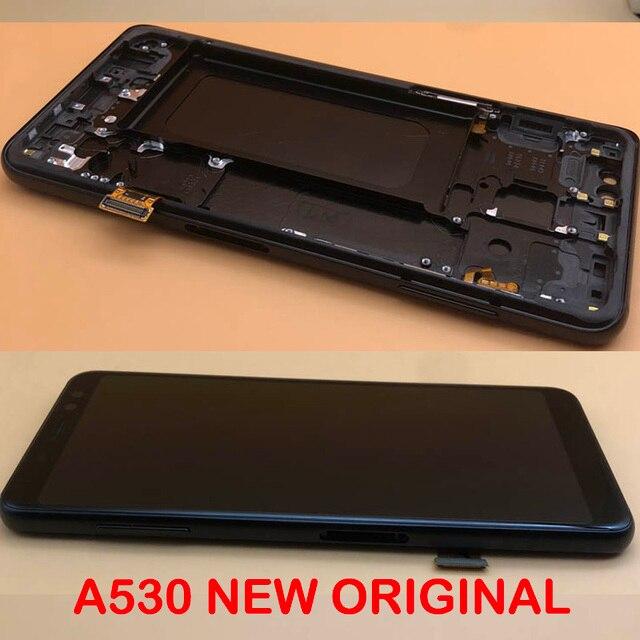 מקורי סופר AMOLED 5.6 תצוגה עבור SAMSUNG Galaxy A8 2018 LCD A530 A530F A530DS A530N LCD מסך מגע Digitizer הרכבה