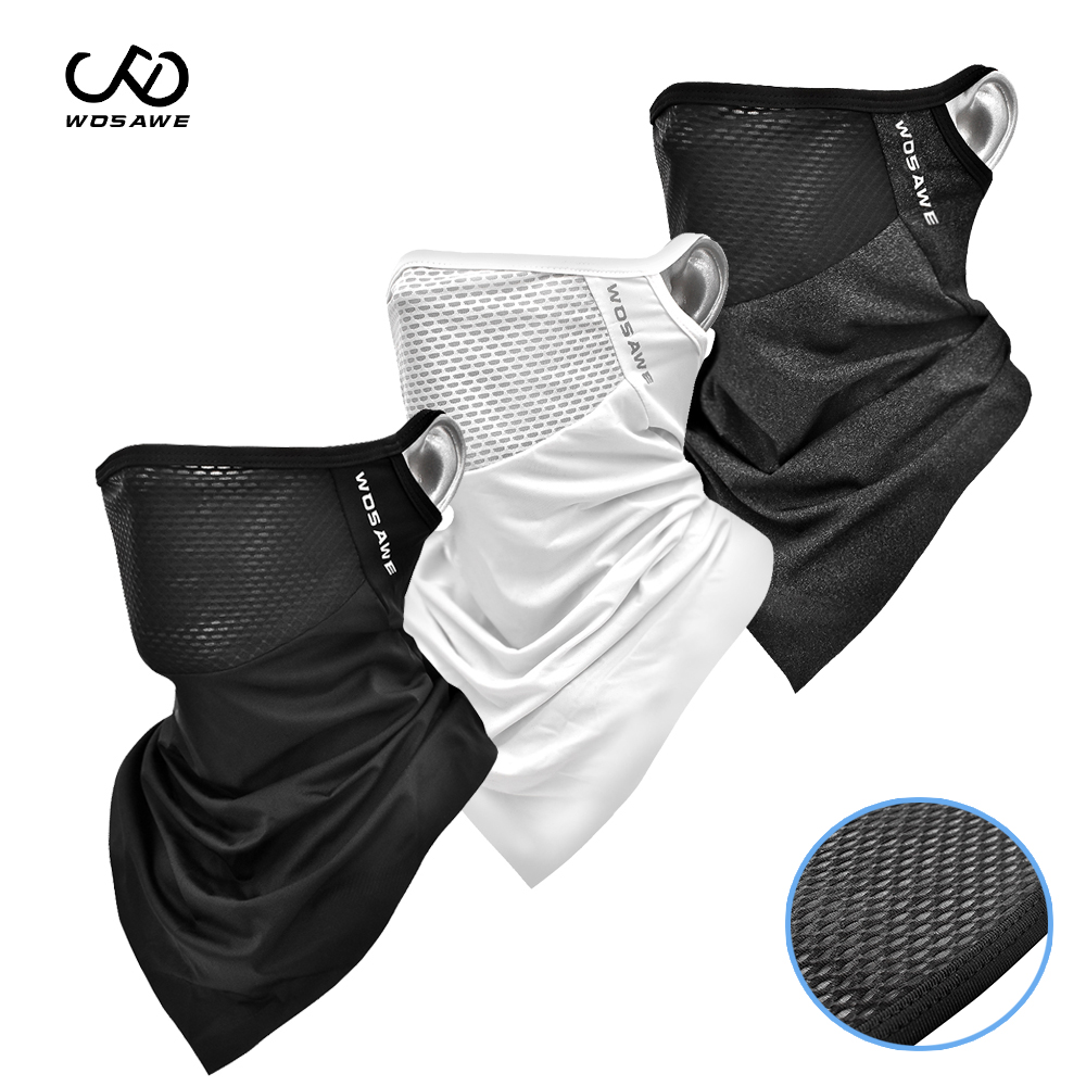 WOSAWE Cycling Full Face Mask Balaclava Breathable Bike Bicycle Mask Sports Skate Scarf Bicycle Sports Half Face Mask Summer