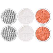 6 pics mop almofadas de substituição para bissell spinwave 2039a 2124 mop piso duro alimentado (2 almofadas macias + 2 esfrega almofadas + 2 pesado esfrega almofada