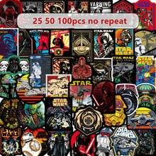 50-100 stücke Star Wars graffiti aufkleber spielzeug superhero skateboard motorrad zeichnen box aufkleber cartoon aufkleber