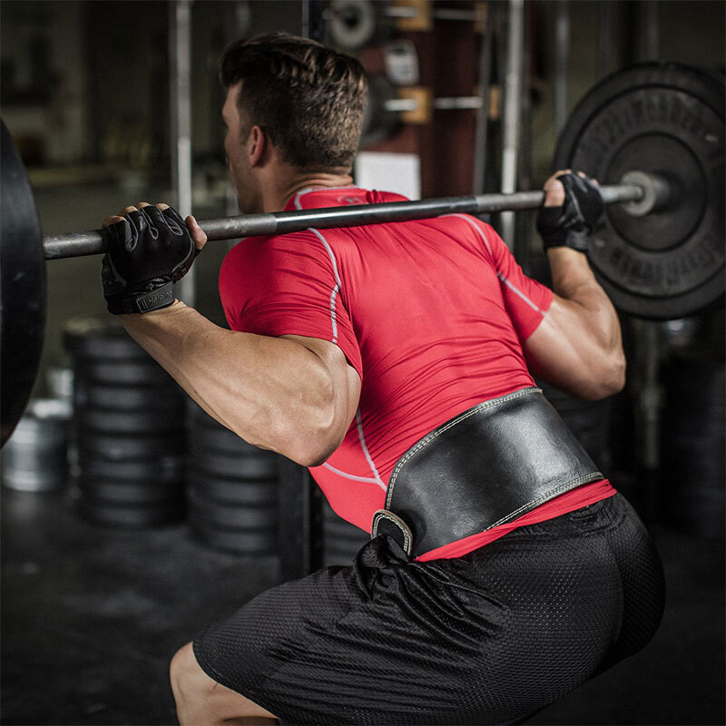 Waist Supporter Fitness Men And Women Squat Deadlift Weightlifting Belt PU Leather Weightlifting Deadlift Fitness Waist Protecti