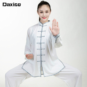Chinese Traditional Kung Fu Clothing Set Woman Tai Chi Uniform Man Wing Chun Clothing Long Sleeve Martial Arts Wu Shu Suit