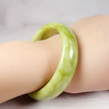 Natural Green Jade Bangle Bracelet Genuine Hand-Carved Fine Charm Jewelry Fashion Accessories Amulet for Men Women Gifts