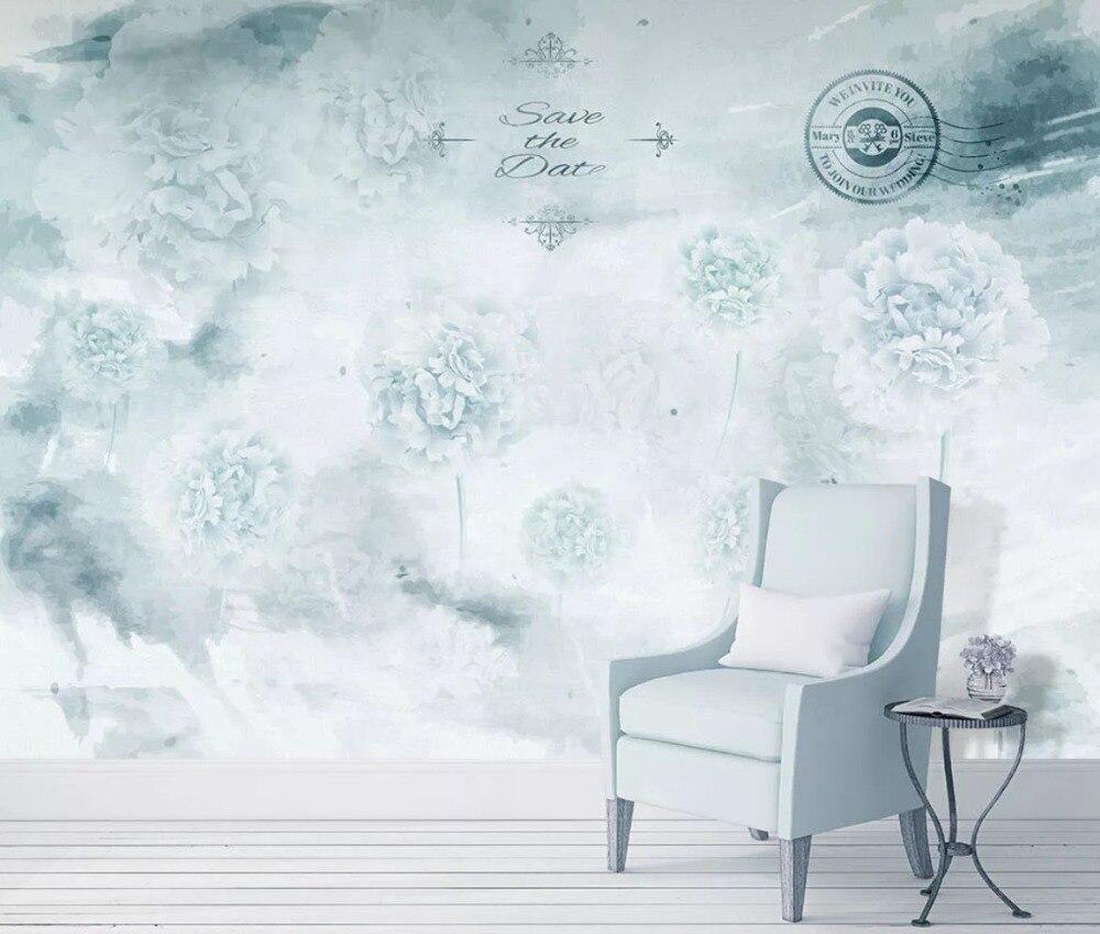 Large Custom Mural Nordic Hand-painted Fantasy Dandelion Sofa TV Background Wallpaper Wall Covering