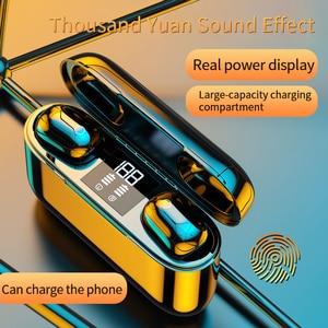 Image 3 - 2020 nowe słuchawki TWS Bluetooth słuchawki bezprzewodowe 2500mAh zestaw słuchawkowy LED 9D słuchawki hi fi Sport wodoodporne słuchawki douszne