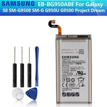 SAMSUNG Original Battery EB-BG950ABE EB-BG950ABA For Samsung GALAXY S8 SM-G9508 G950F G9500 G950U SM-G G Project Dream 3000mAh battery original for samsung galaxy s8 eb bg950abe sm g9508 g9500 g950u li ion replacement batteria akku