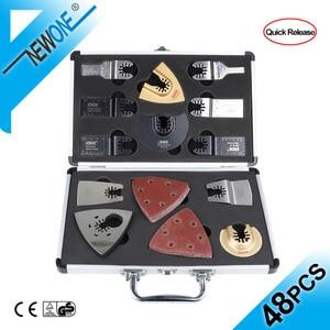 Image 1 - NEWONE набор быстроразъемных пильных лезвий, Осциллирующий набор многофункциональных инструментов Fein Dremel Multi Max, как резак из дерева и металла