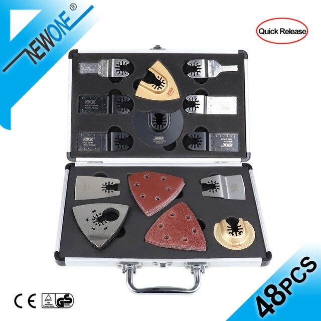 NEWONE набор быстроразъемных пильных лезвий, Осциллирующий набор многофункциональных инструментов Fein Dremel Multi Max, как резак из дерева и металла